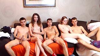 Webcam Sketch Teen Group Shacking up