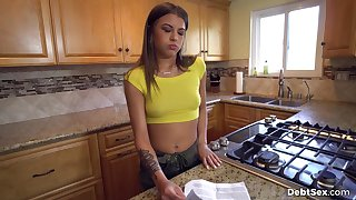 Jade owes her landlord money so she trades sex for free rent