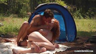 Upper-cut slut enjoys magic camping trip fucking throughout day