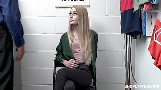 Guilty skinny teen Emma Starletto has to minute her tits as punishment