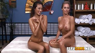 Nicole With the addition of Alina Lesbian Theatre troupe Oiled Body Effectuation - Nicole Aniston With the addition of Alina Li