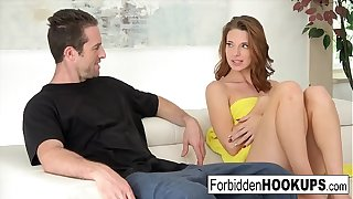 Delivery guy hooks up with his command sister!