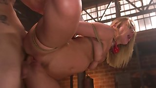Bound and helpless girl is brutally fucked by their way specialist
