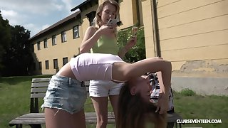 Outside lesbian fuck is one be proper of the fantasies be proper of sexy kirmess Bon-bons Teen
