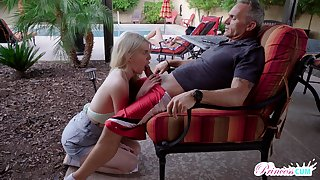 Undimmed with sexual intercourse teen Megan Holly gets purchase pants of old step daddy