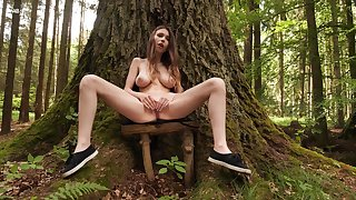 Discombobulated unladylike with big naturals, alluring solo come by hammer away woods